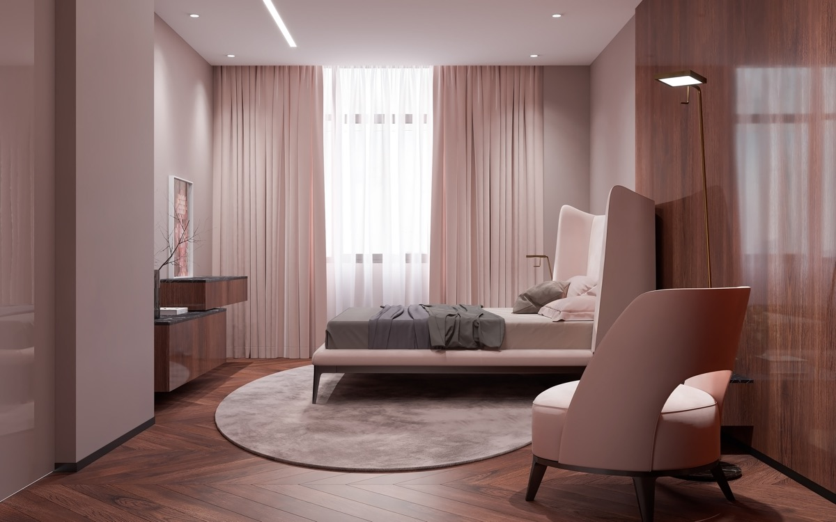 light-pink-bedroom-curtains