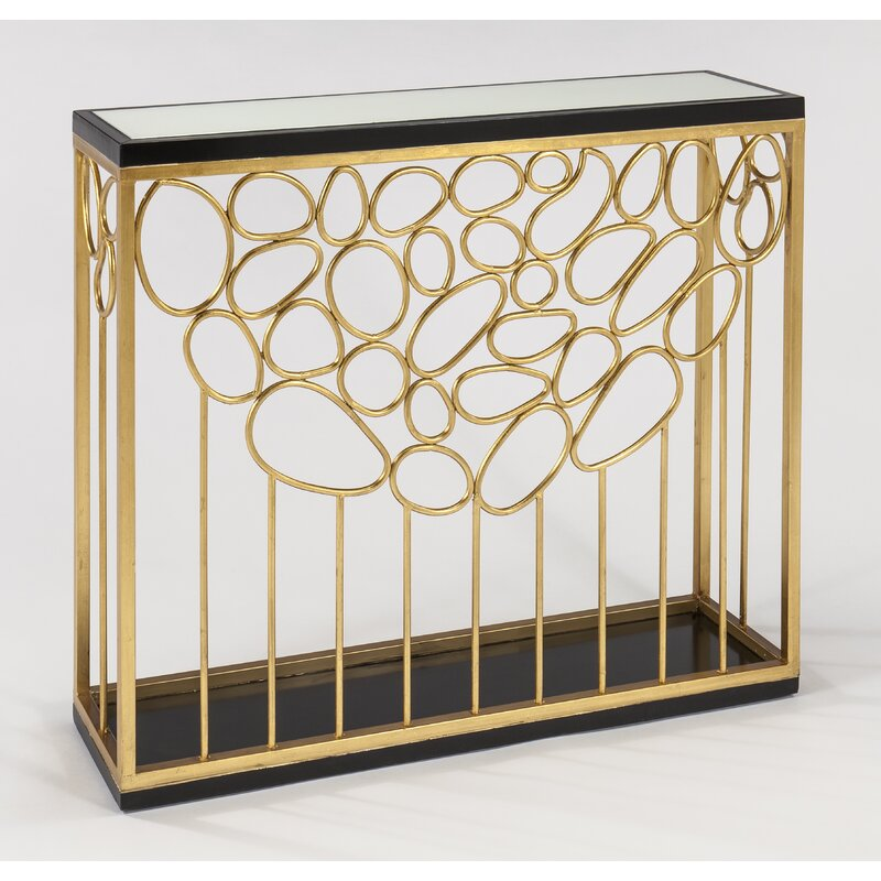 luxury-entryway-console-table-with-gold-leaf-finish