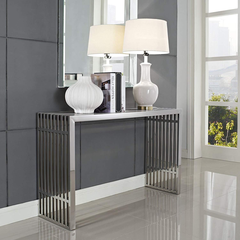 metal-entryway-table-minimalist-industrial-interior-design