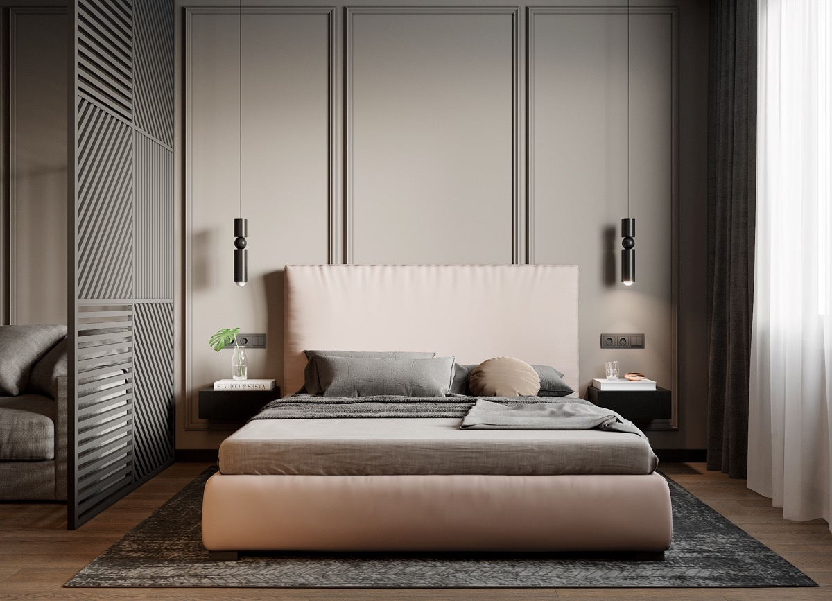 pink-and-black-bedroom