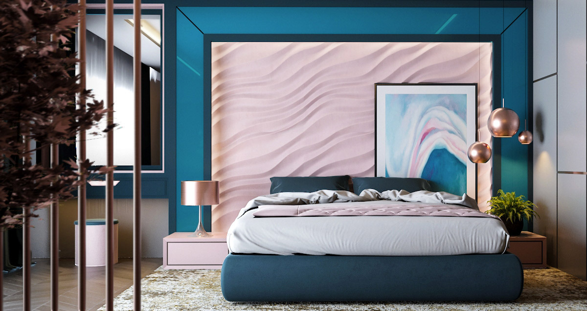 pink-and-blue-bedroom