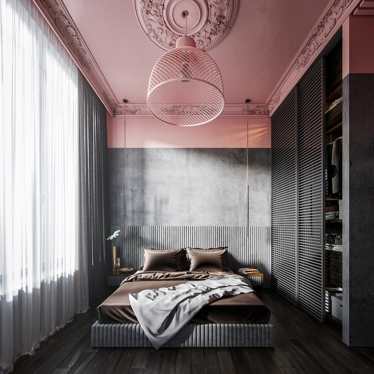 pink-and-grey-bedroom-ideas