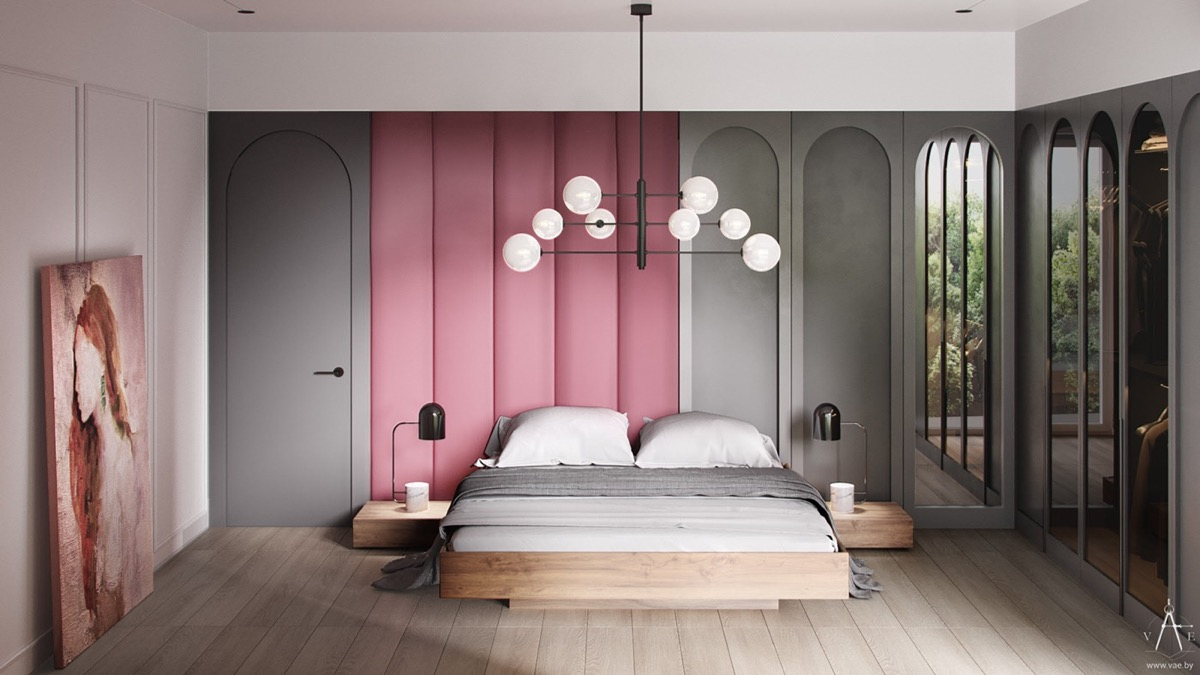 pink-and-grey-headboard-feature-wall