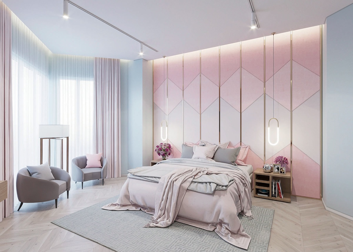 pink-and-metallic-bedroom-feature-wall