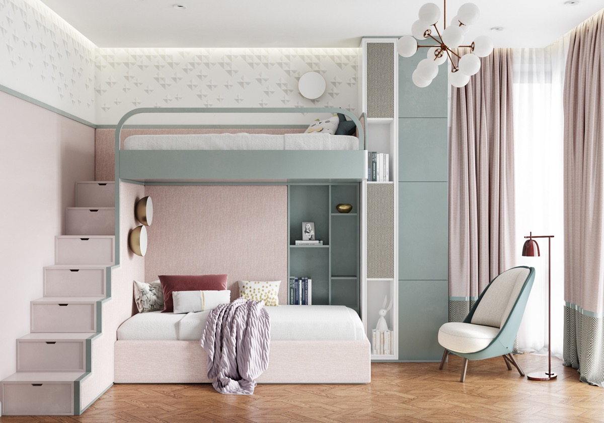 pink-and-mint-kids-room