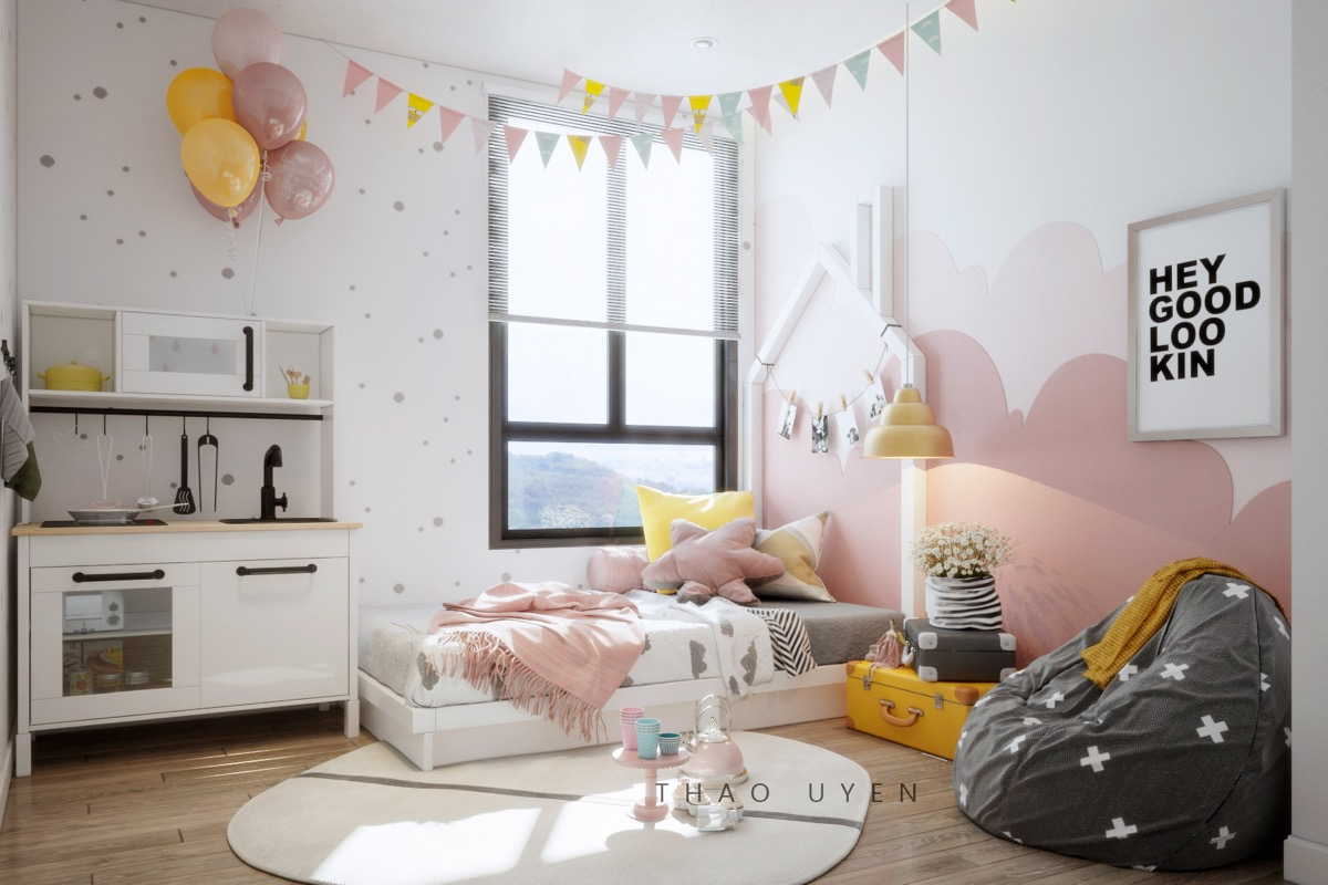pink-and-yellow-bedroom