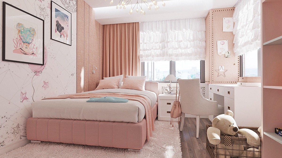 pink-bedroom-curtains