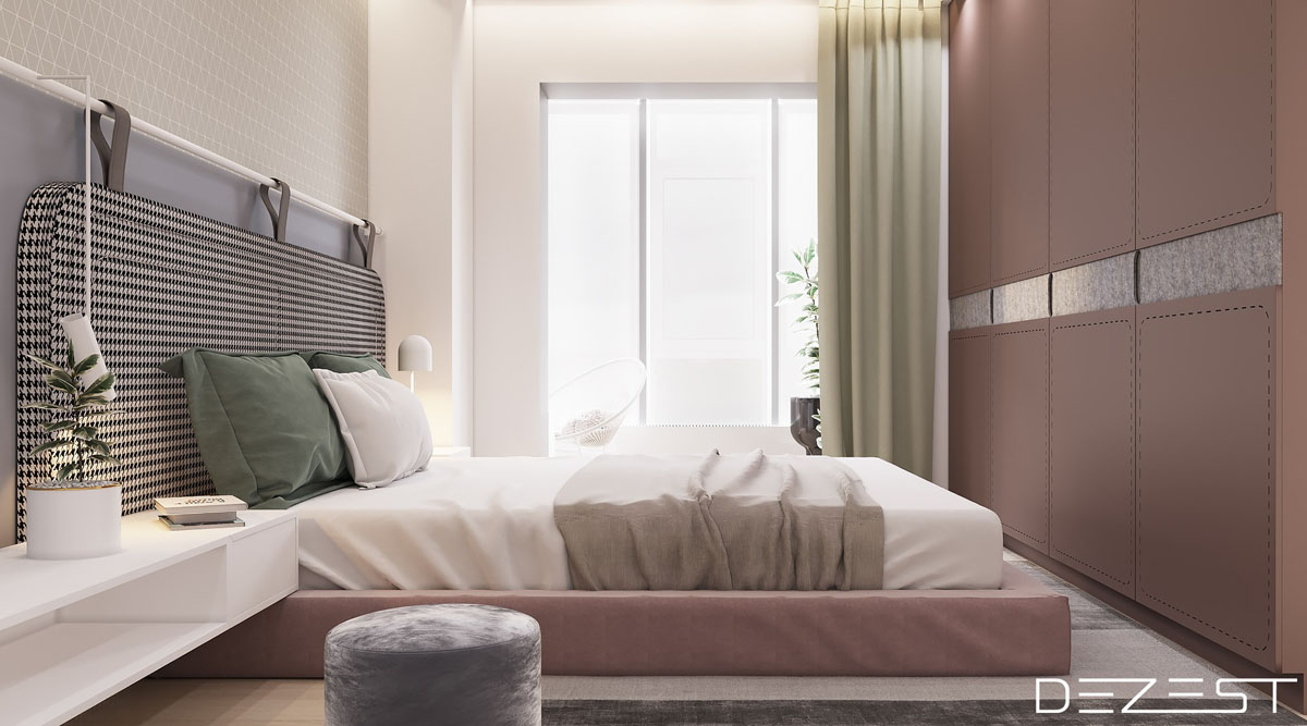 pink-black-and-white-bedroom