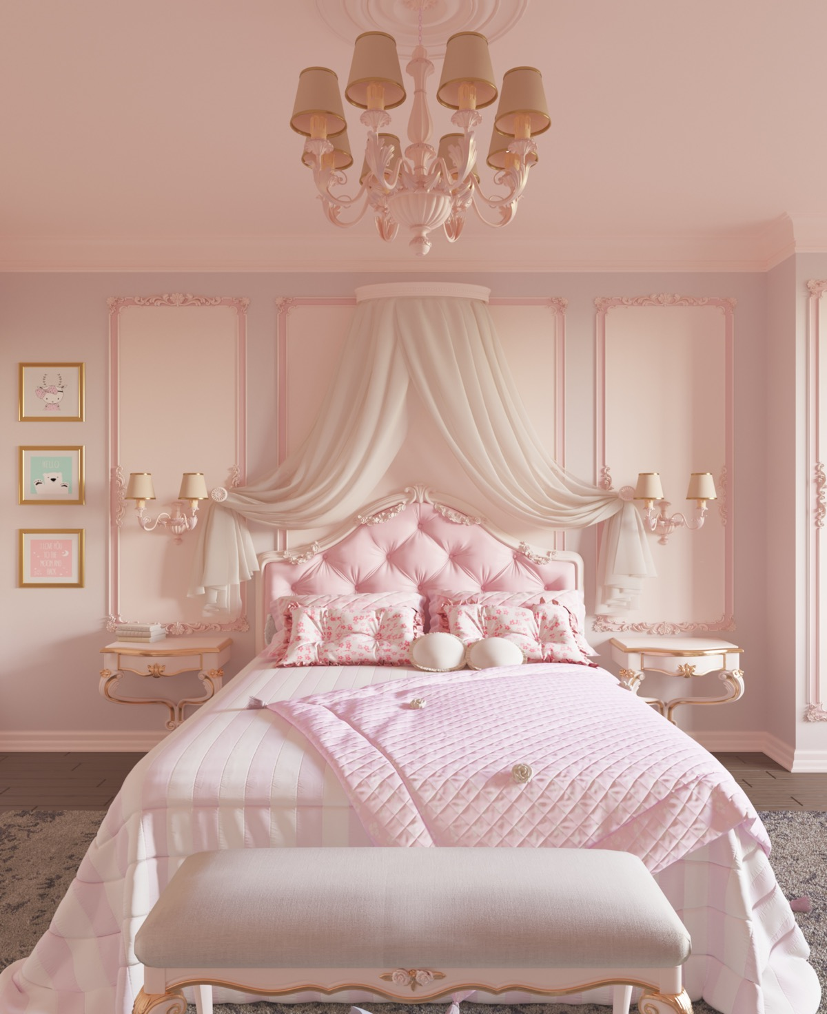 pink-panelled-wall-ideas