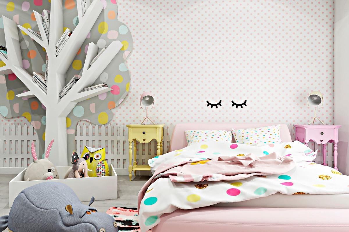 pink-polka-dot-bedroom