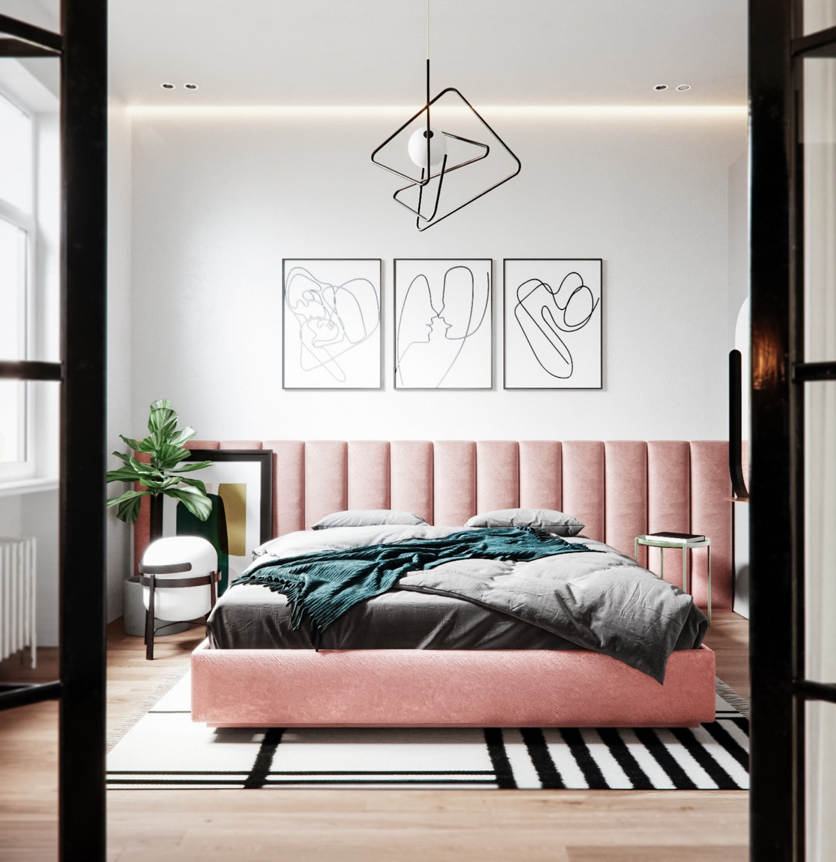 pink-upholstered-bed