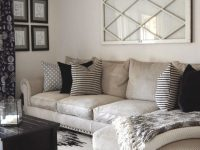Sectional Couch, Neutral Mixed Pattern Throw Pillows within Ideas Of Decorating Small Living Room