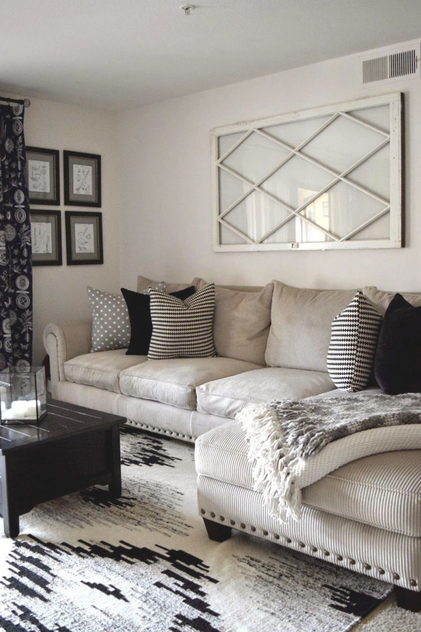 Sectional Couch Neutral Mixed Pattern Throw Pillows Within Ideas Of Decorating Small Living Room Awesome Decors