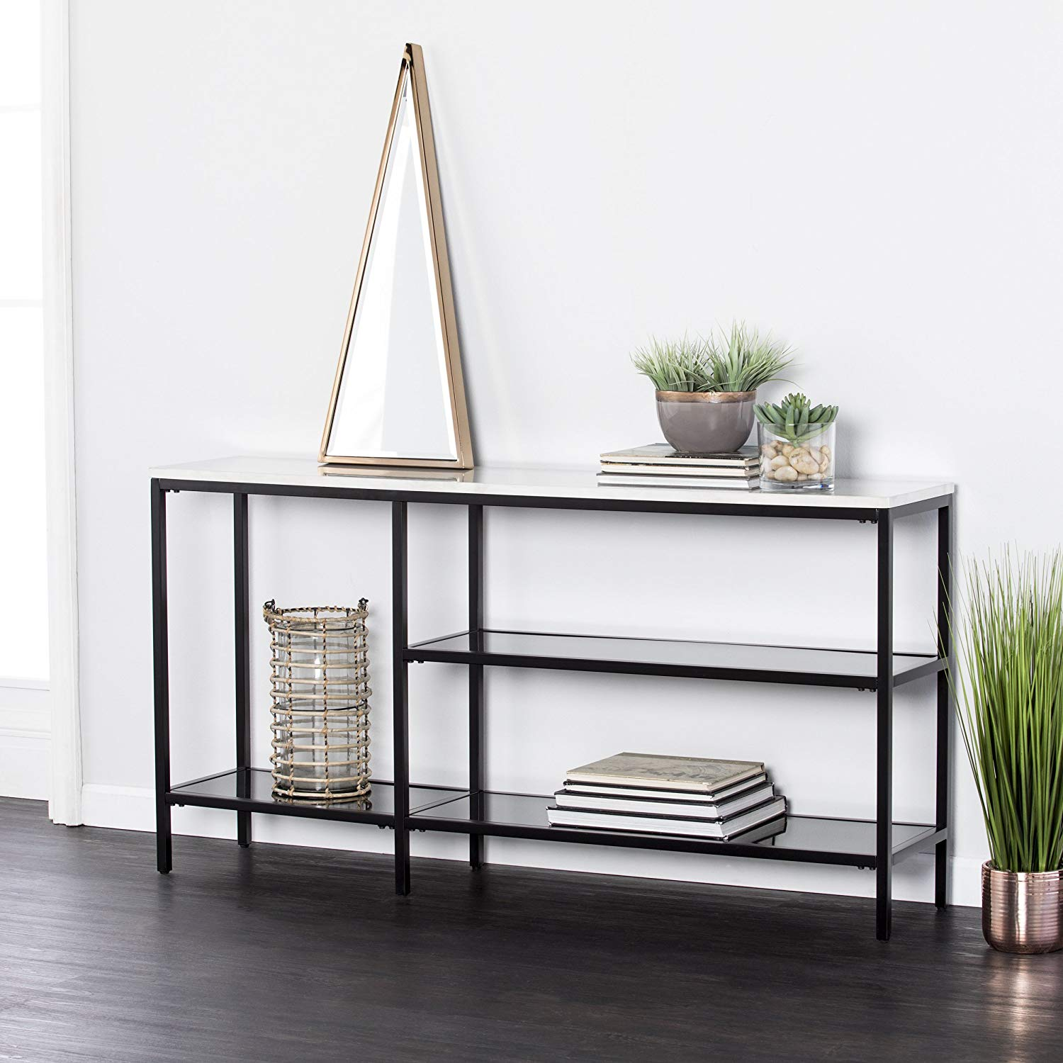 skinny-entryway-table-minimalist-black-finish-for-modern-homes