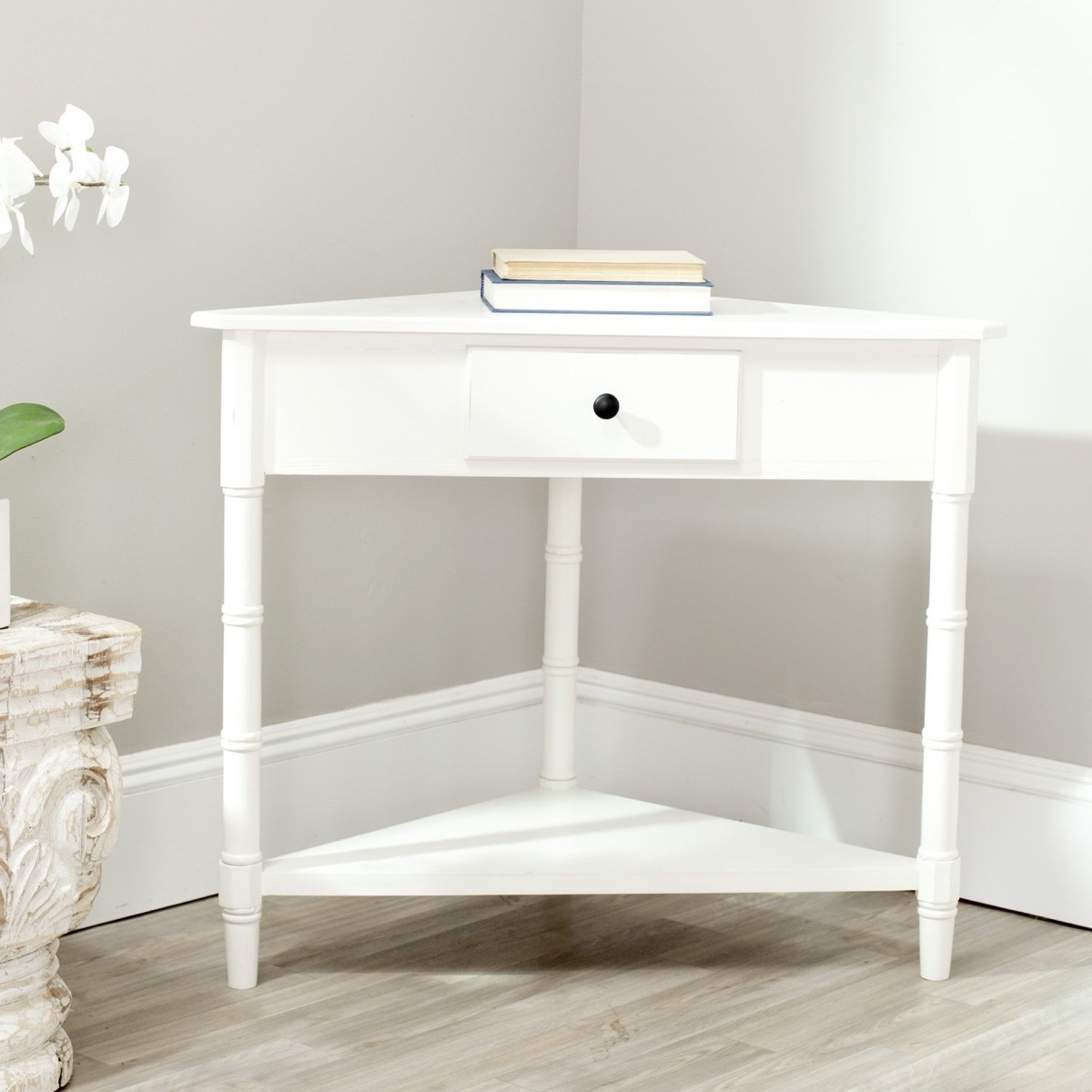 Entryway White Finish Small Drawer