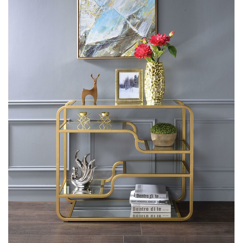 small-entryway-console-table-with-mirrored-shelves-and-brushed-gold-finish