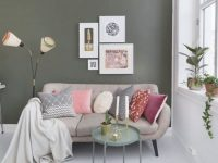 Studio Small Room Decorate Decorating Tall Taupe Niche intended for Decorate Apartment Living Room
