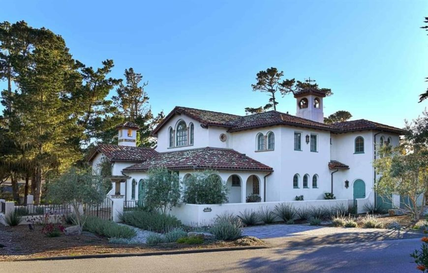 Santa Barbara Home Features a Large Barrel Coved Ceiling