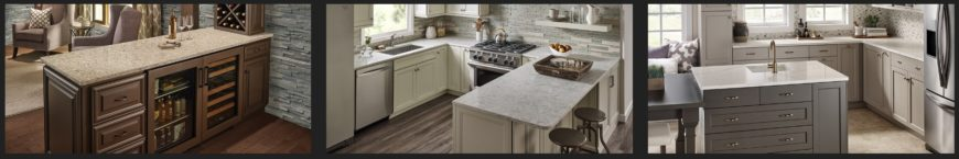 Sample of MSI Q Quartz countertops for the kitchen.