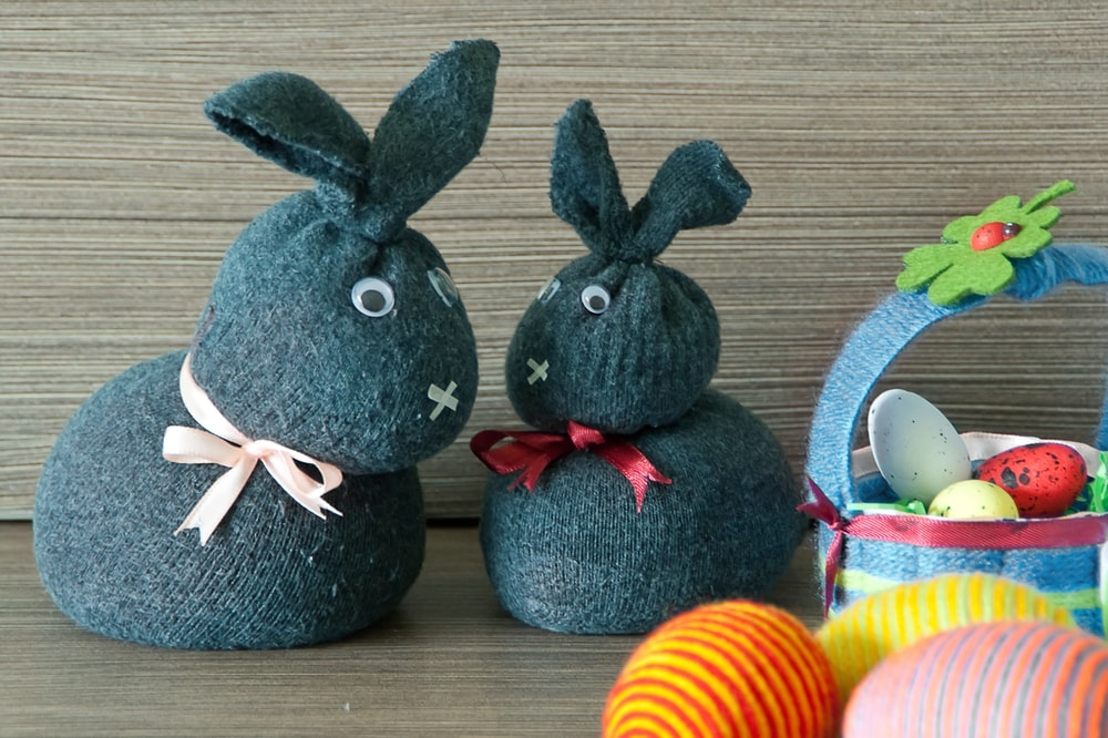 Customized Sock Bunnies