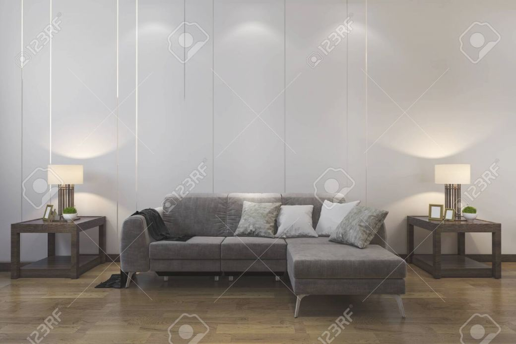3D Rendering Mock Up Wood Decor In Living Room With Sofa Chinese.. inside Awesome Chinese Living Room Decor