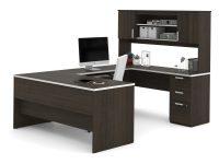Brown-U-Shaped-Desk