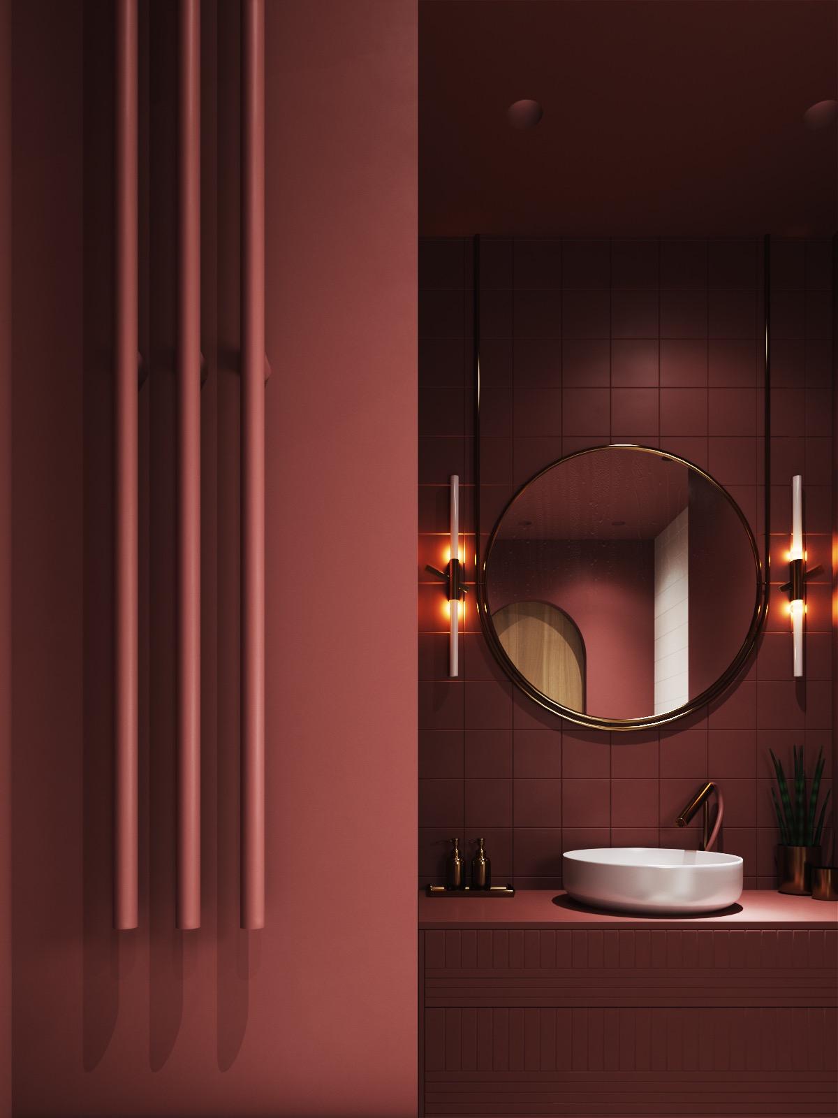 Burgundy-red-bathroom-scheme