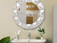 Decorative-Round-Geometric-Bathroom-Mirror-For-Modern-Bathroom-Decor-Ideas
