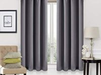 EASELAND Blackout Curtains 2 Panels Set Room Drapes Thermal Insulated Solid Grommets Window Treatment Pair for Bedroom, Nursery, Living Room,W52xL63 inch,Dark Grey