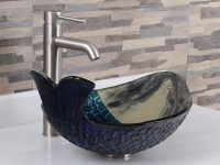 Glass-Bowl-Sink-With-Mermaid-Blue-Artistic-Bathroom-Sink-Modern-Quirky-Fun