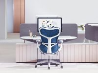 Herman-Miller-turquoise-roller-desk-chairs
