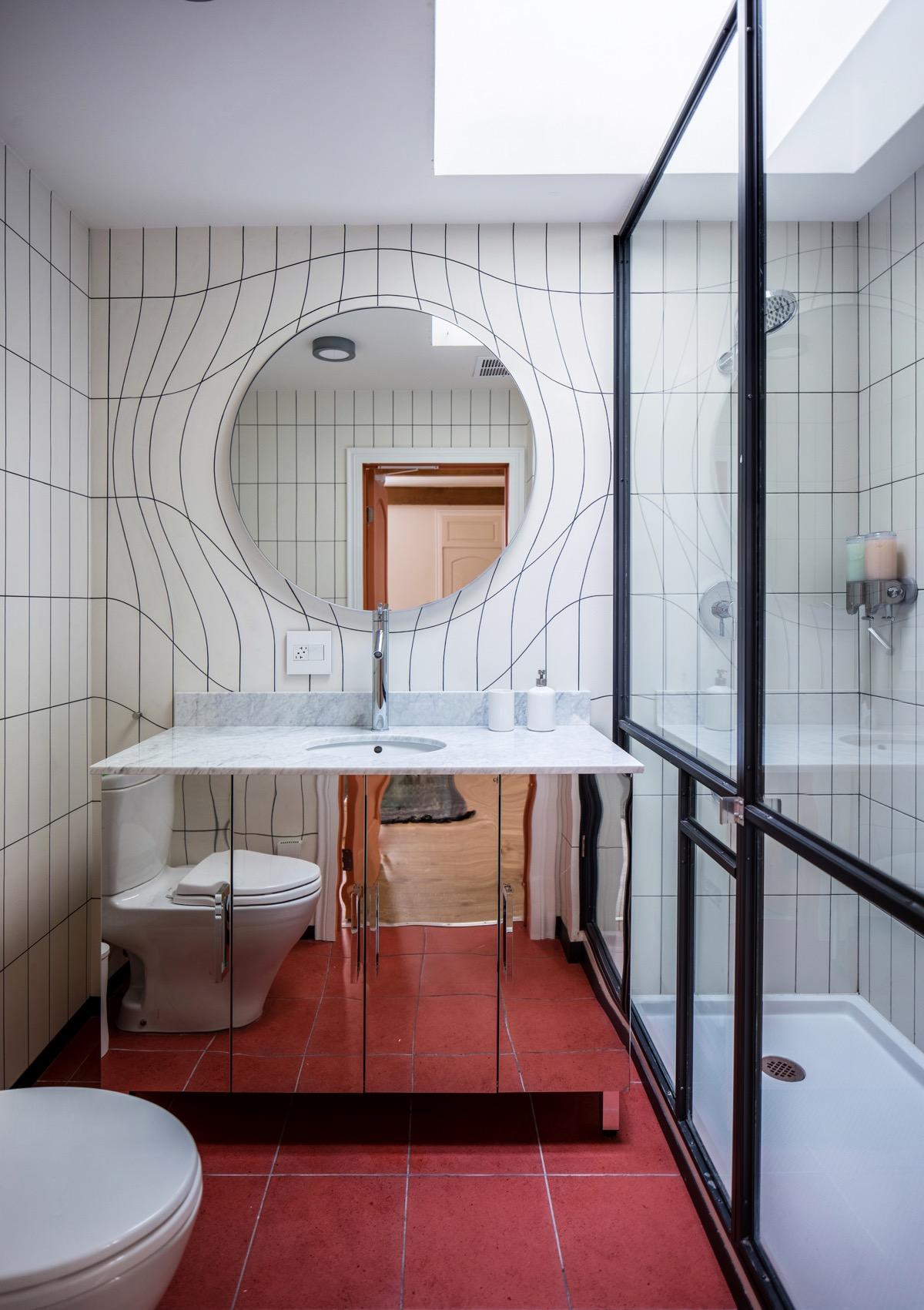 Mirrored-modern-vanity-unit