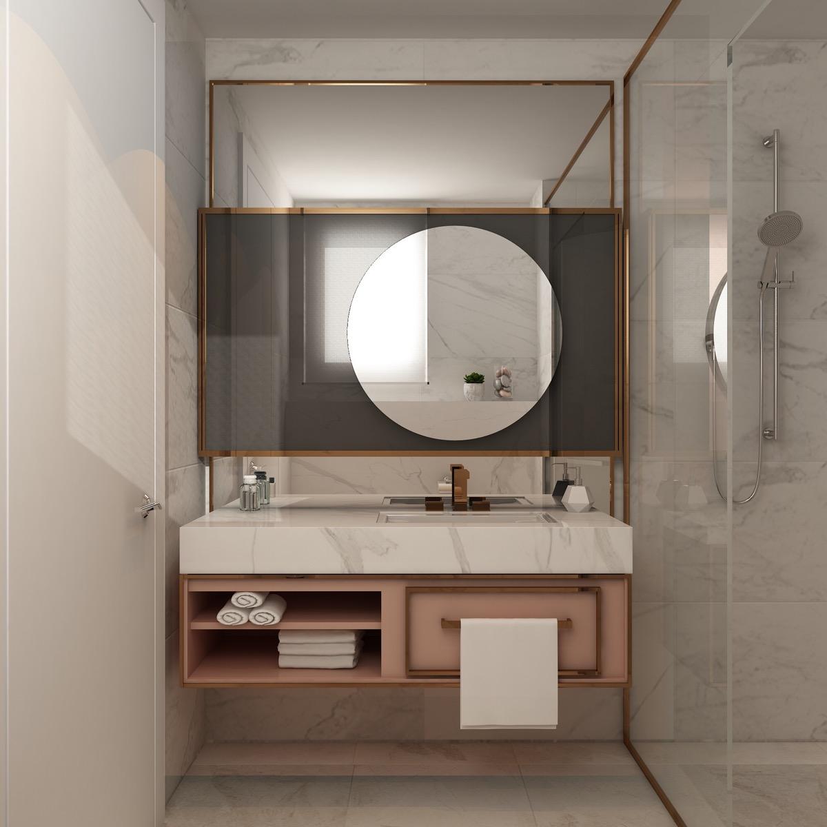 Pink-grey-copper-bathroom-design