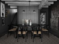 Rustic-black-dining-room
