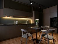 Small-black-square-dining-table