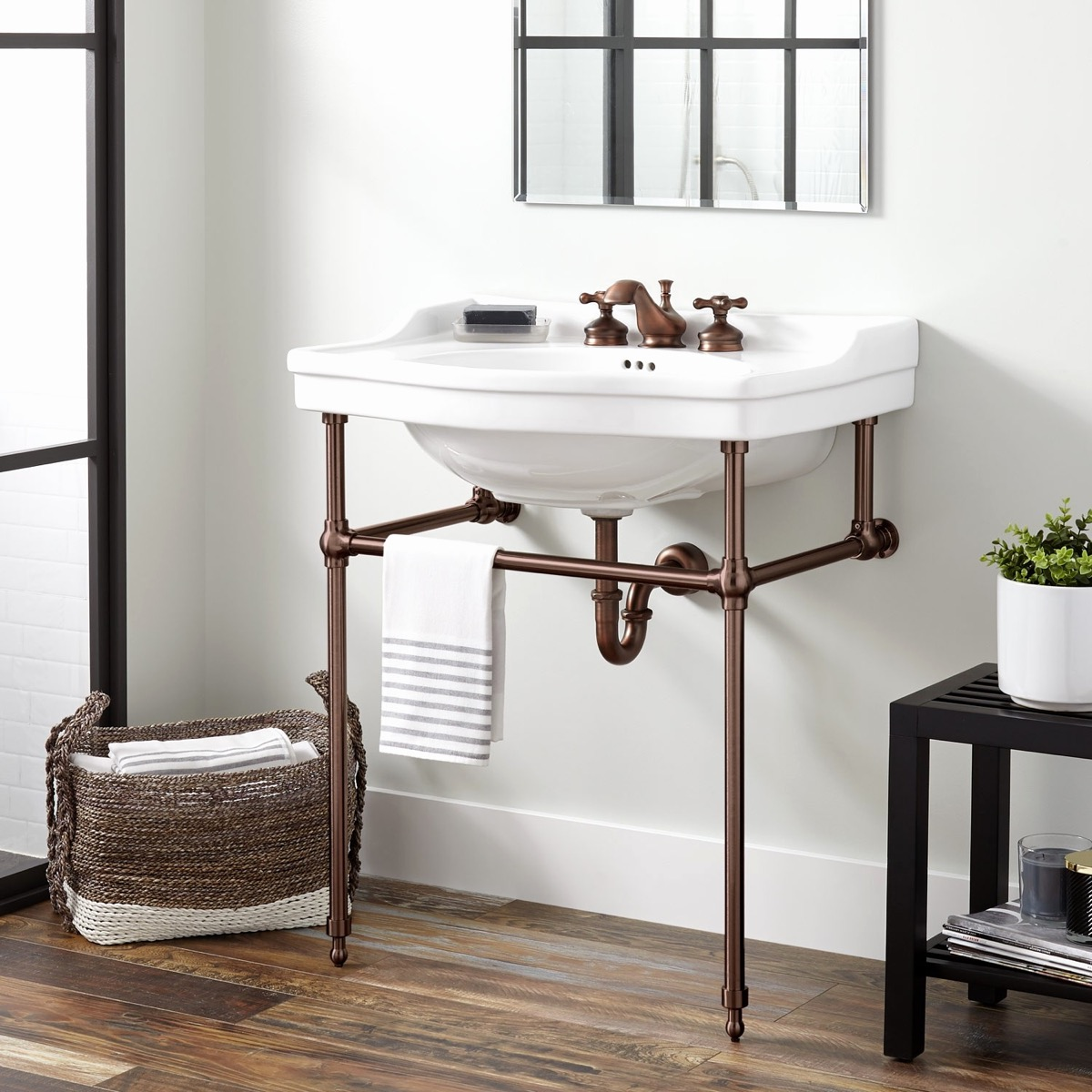 Picture of: Narrow Depth Bathroom Vanity Sale Fresh Cierra Console Sink With Brass Stand Bathroom Awesome Decors