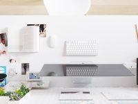 White-computer-desk