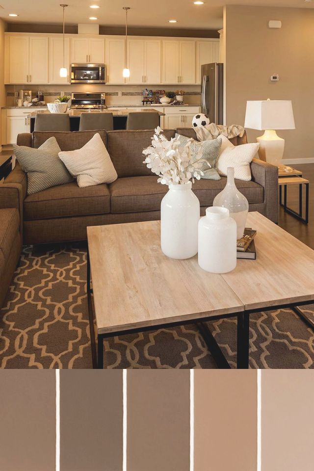 A Neutral Design Palette Is Timeless. | Pulte Homes | Beige throughout Sample Living Room Decor