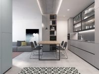 all-grey-LED-lighting-modern-dining-room-1