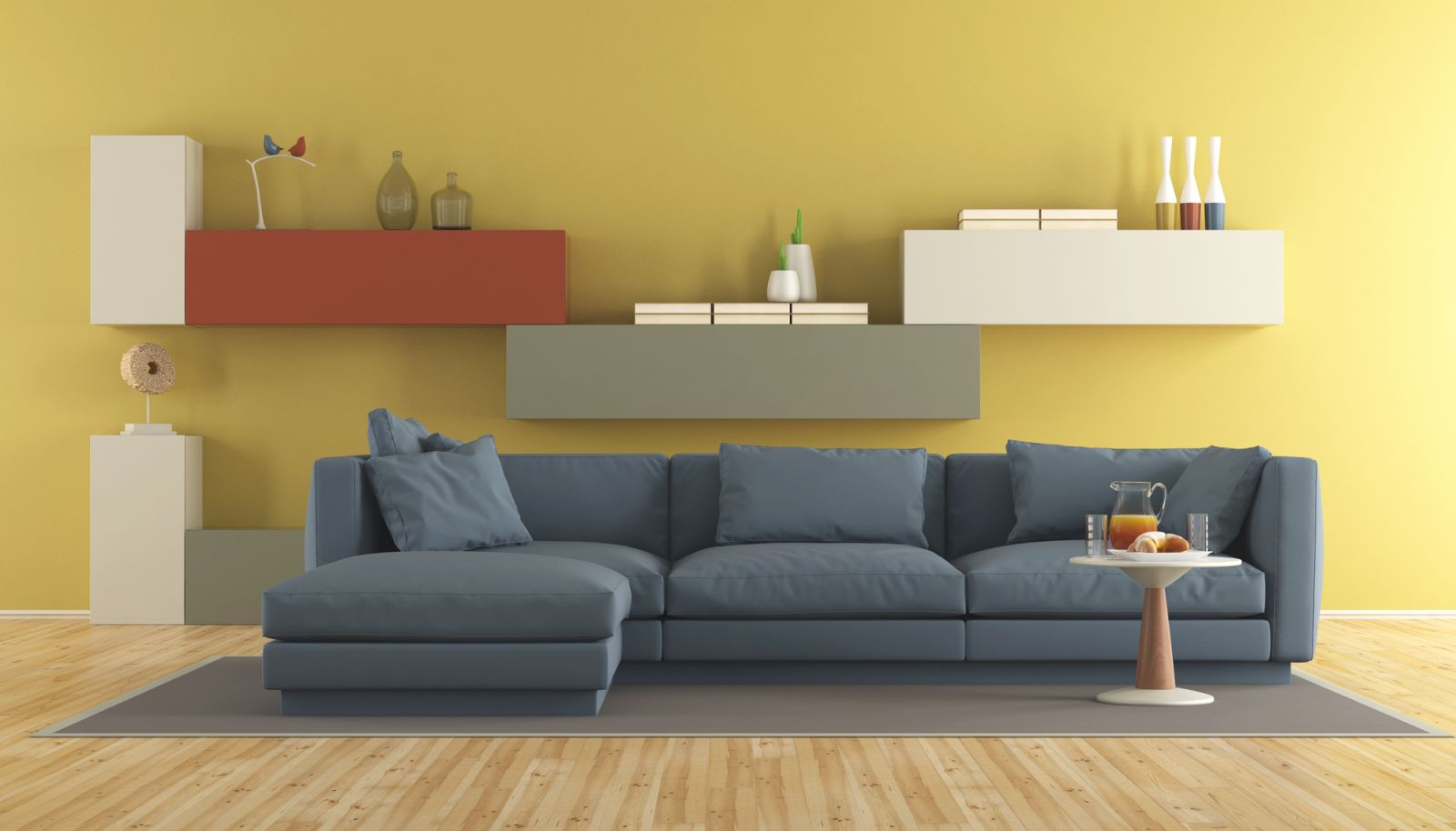 An Ideal Color For Living Room Should Blend Well throughout Yellow Walls Living Room Interior Decor