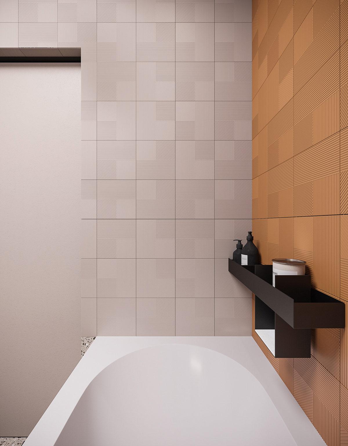 black-bathroom-shelves