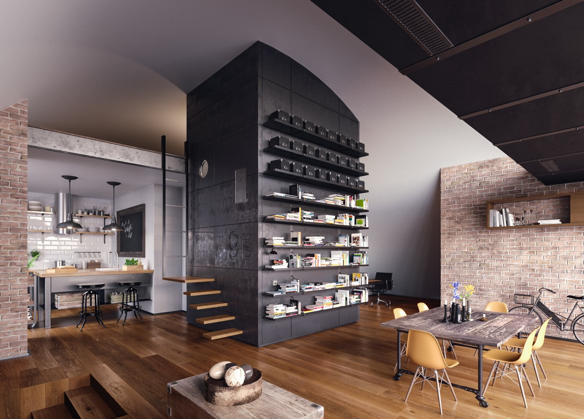 black-dining-room-feature-wall
