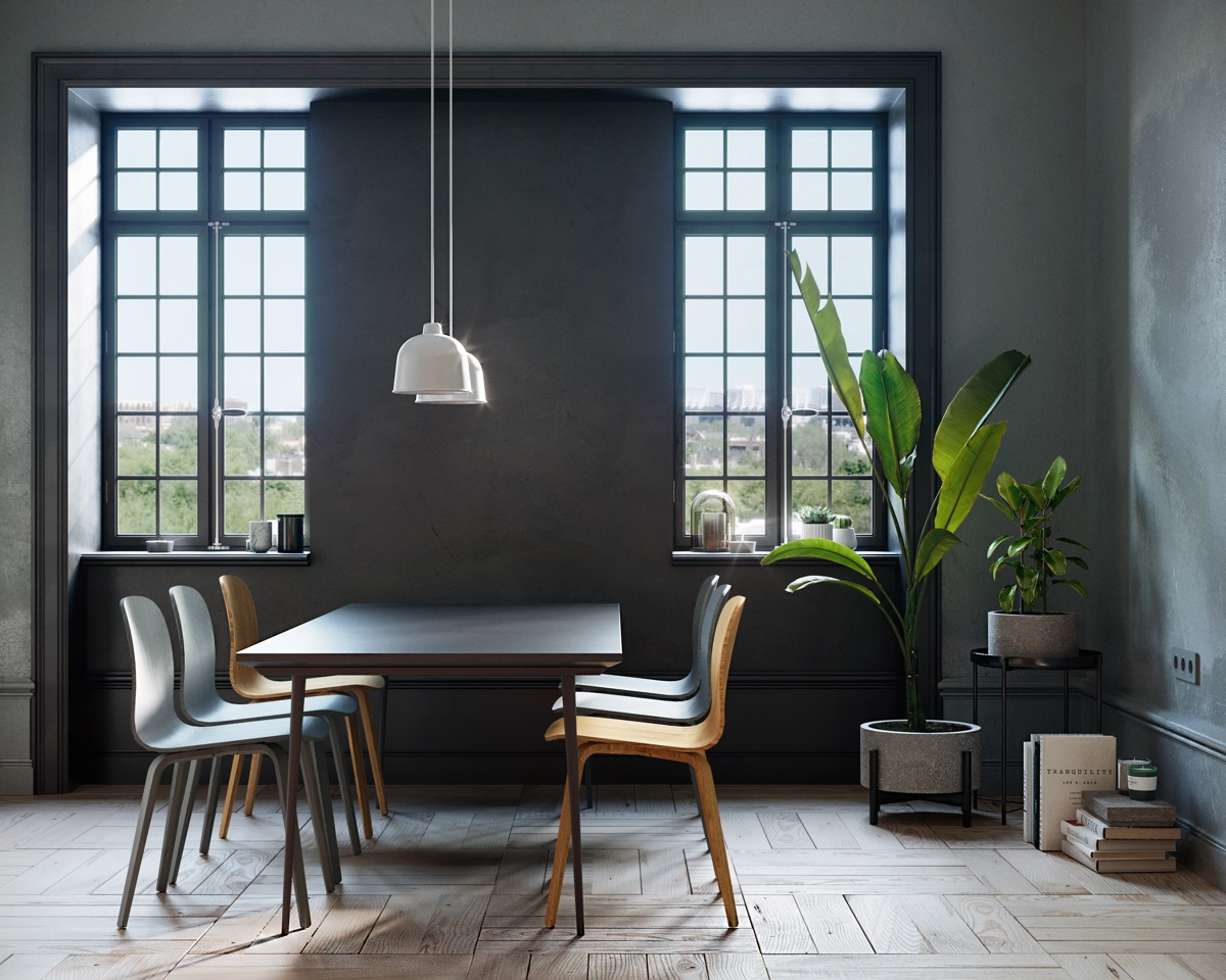 black-dining-room-table-and-chairs