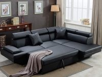 black-faux-leather-sectional-sleeper-sofa