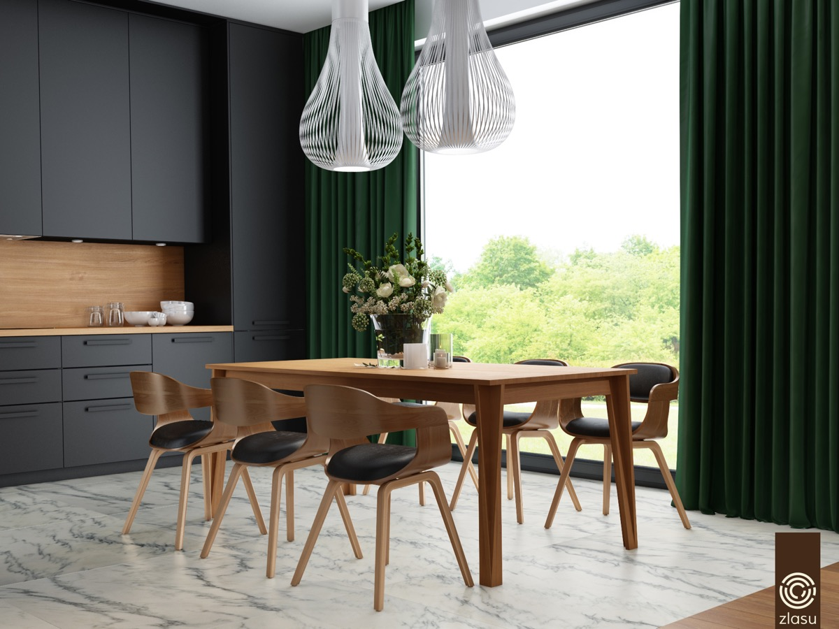 black-leather-dining-chairs