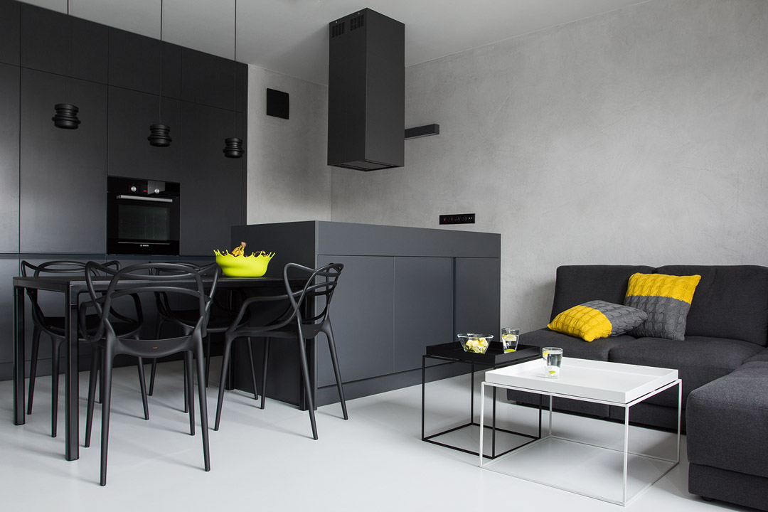 black-rectangle-dining-table