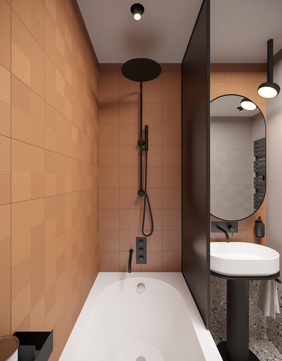 black-shower-unit