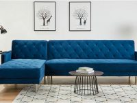 bright-blue-sectional-sleeper-sofa-with-metal-legs-and-diamond-tufting