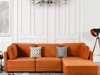 bright-orange-sectional-sleeper-sofa-with-chaise