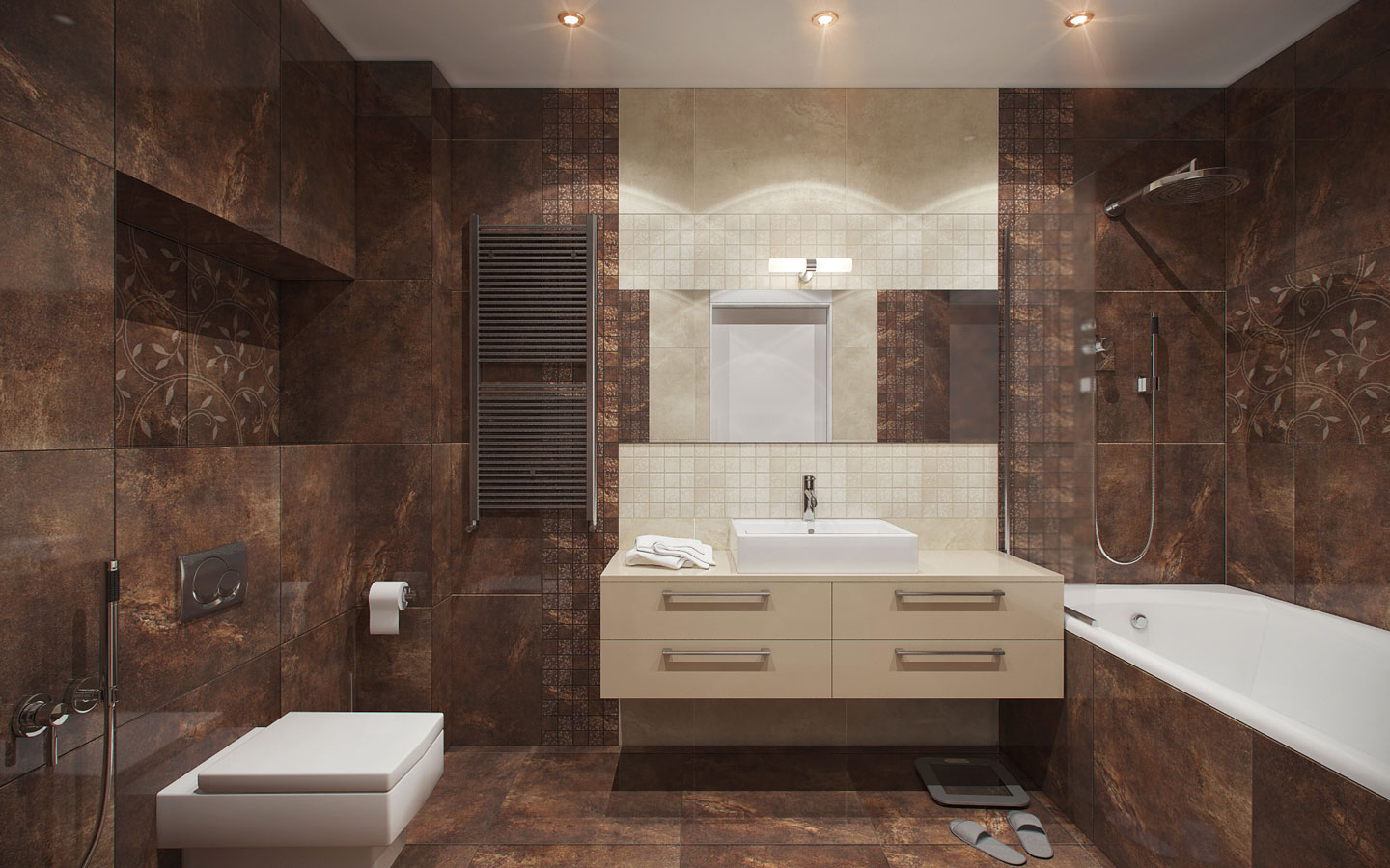 brown-and-cream-bathroom-theme